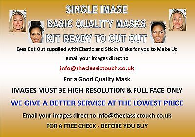 Personalised Photo Face Mask KIT - 1 to 10, Low Cost Standard Hen & Stag Parties