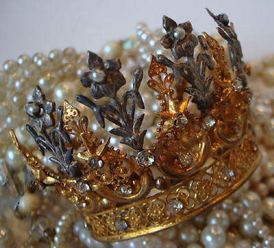 Antique Fleurs & Flowers French Crown Incredible