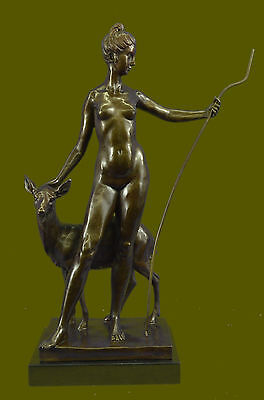 HandcraftedBronze Sculpture, Statue Fairy/Mythical Signed~Leochares ~DianaEf