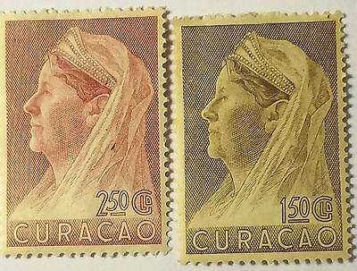 Curacao   Scott#142-143    Unused Stamp .. ..worldwide Stamps