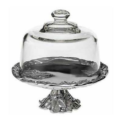 Arthur Court Grape 8-Inch Footed Plate with Glass Dome [Kitchen]