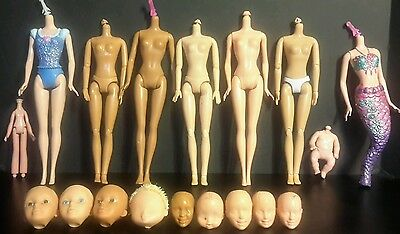Lot of Nude Barbie Doll Bodies & Heads~ OOAK Ready~ Art~ Artists~ Collectibles