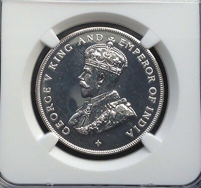 1920-Straits-Settlements-1-Restrike-Proof-Silver-Coin-NGC PF64