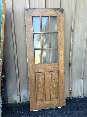 Cm 85 Antique Oak Entrance Door Or Passage Door 29.5 X 78