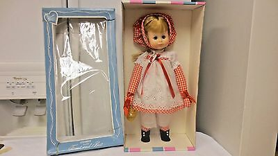 """Older Effanbee Durable 13"""" Doll-Red Checkered Outfit #1821 Platinum-OrgBox-Tag"""