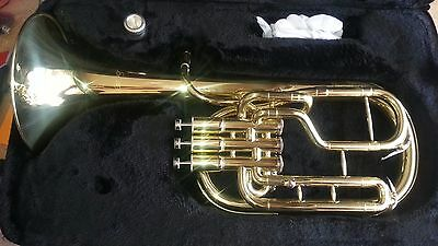 Monel Pistons Moz Marching Baritone Key of Bb w/ Case Gold Lacquer Finish - Used