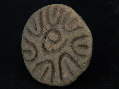 Ancient Teracotta Seal Indus Valley 2000 BC   #TR15436