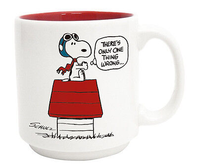 Snoopy Peanuts Vintage Design Mug Cup PW-1301 Flying Ace