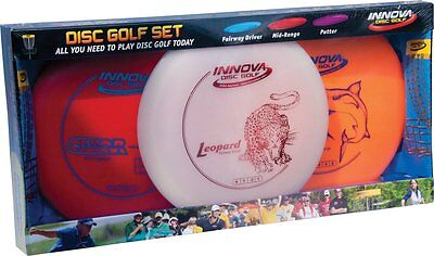 Innova DX 3-Pack Disc Golf Set Includes Driver Mid-Range and Putter Colors Vary
