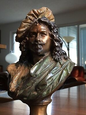 A. CARRIER-BELLEUSE Bronze Bust of REMBRANDT French Albert Ernest Marble statue