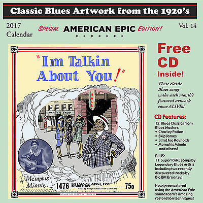 John Tefteller's Blues Images Calendar 2017 + FREE CD Vocalion Race Record Art