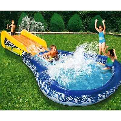 Inflatable Slide Body Board Pool Kids Water Sports Game Toy Outdoor Fun Play