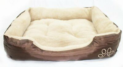 Max Care Deluxe Soft Washable Dog Pet Warm Basket Bed Cushion with Fleece Lining