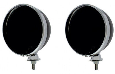 """Pair Black Dietz 7"""" Headlight Buckets Assembly Wired for Hot Rods"""