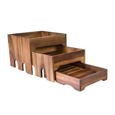Wooden Nested Risers Set of 3 Moda Brooklyn Cafe Food Fruit Display Stand Riser