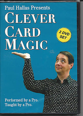 Paul Hallas Presents Clever Card Magic -2 DVD Set - Still Wrapped -Free Shipping