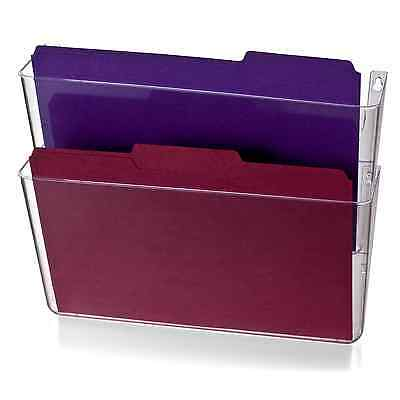 2 Pack File Filing Letter Size Office Mail Storage Organizer Wall Mount Pocket