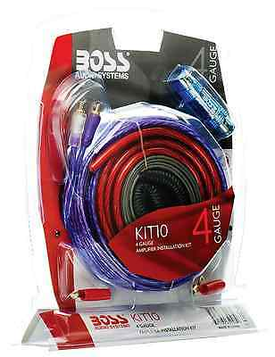 BOSS Audio Kit 4 Gauge Amp Amplifier Install Wiring Power Sub Car Subwoofer Kit