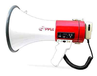 Bullhorn Megaphone Microphone Speaker Crowd Control Siren Outdoor Rechargeable