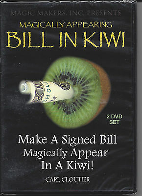 Magically Appearing Bill in Kiwi by Carl Cloutier - 2 DVD Set - Still Wrapped