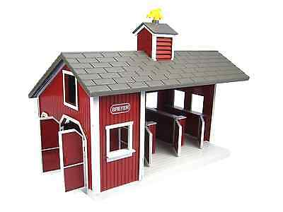Stablemates Red Stable Set Toy Horses Toys Farm Barn Pretend Play Kids Toddler
