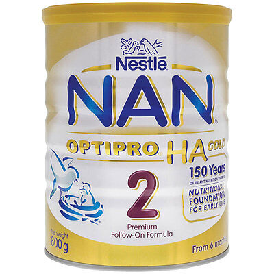 NAN OPTIPRO HA Gold Stage 2 Premium Follow-On Formula 800g From 6 Months *NEW*