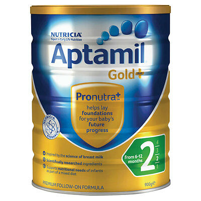 APTAMIL Gold+Stage 2 Follow-On Formula From 6 to 12 Months 900g *NEW*