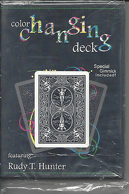 Color Changing Deck by Rudy Hunter w/ Gimmick - Magic Trick DVD - Still Wrapped