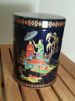 Vintage Tin Box Co. By Daher in England Asian Japanese Birds Container