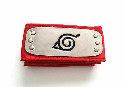 Naruto Shippuden Hidden Leaf Village Headband red color -Fast Ship from IL USA