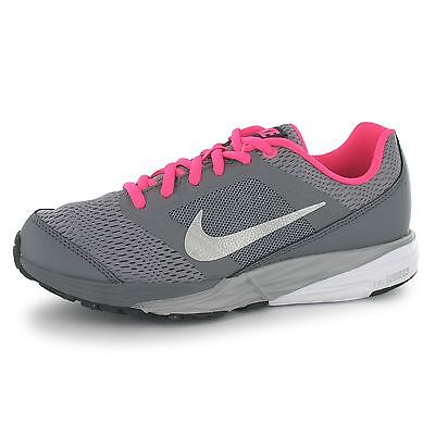 Nike Tri Fusion Running Trainers Junior Girls Grey/Silv/Pnk Sports Sneakers