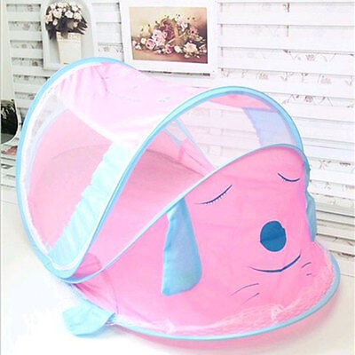 Pop-Up Baby Mosquito Net Tent Crib Bed Canopy Nursery Bedroom Travel Use