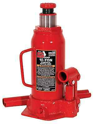 Big Red 10 Ton Bottle Jack Heavy-Duty Steel Construction Heat-Treated Saddle