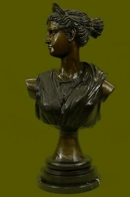 """Handcrafted42""""Tall Cleopatra Bronze Figure Office Decoation Collector Ef"""