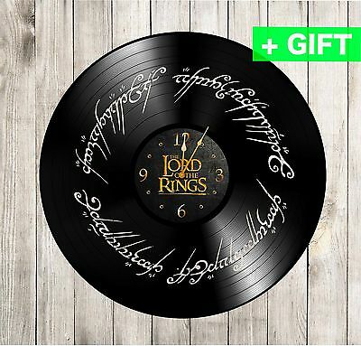 The Lord of the ring decal vinyl wall clock HANDMADE decoration birthday gift