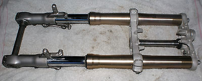Kawasaki ZX750 98 Front End Forks Triple Tree Spindle Used