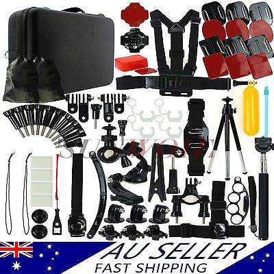 AU Go pro Camera Accessories Pack Case Chest Monopod For Gopro Hero 1 2 3 3+ 4 5