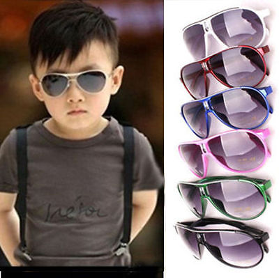 Stylish Cool Child Kids Boys Girls UV400 Sunglasses Shades Baby glasses KY
