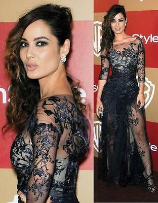 Zuhair Murad Like Formal  2016 Lace Illusion Long Sleeve Evening Dress.