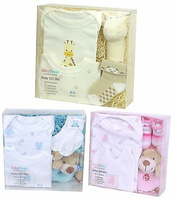 BabyPrem BOXED GIFT SET 0-3 m Baby Clothes & Toy Christmas Baby Shower Gifts