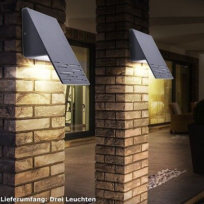 2er set au enlampen led wandleuchten 6 watt mauer. Black Bedroom Furniture Sets. Home Design Ideas