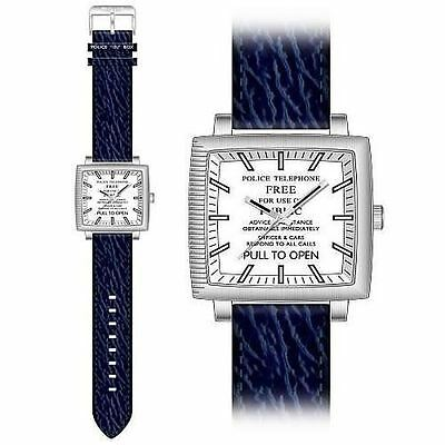 Official DR173 Dr Doctor Who Tardis Adults Collectors Analog Watch - Navy Strap
