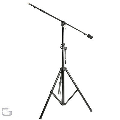 QTX Professional Live Studio Microphone Mic Boom Arm Stand with Counter Weight