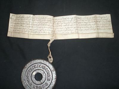 1552 Rare Edward Vi, Medieval Vellum Indenture, Cambridge, A-Grade