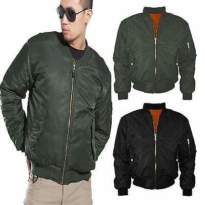 New MA1 Mens Army Pilot Biker Bomber Fly Military Security Doorman Jacket XS-XL