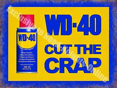 WD-40 Vintage Garage Advertising Oil Car Bike Shed Wall Small Metal/Tin Sign
