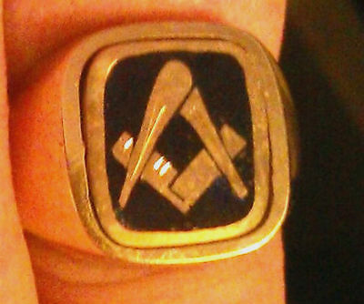 Masonic Craft and Chapter - 9 ct Yellow Gold Ring - NEW 'N'