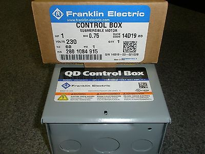 1 HP 230V 1PH Franklin QD Control Box Submersible Water Pump # 2801084915