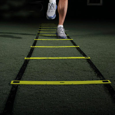 2016 Flat Rung Agility Ladder Train Training Football Soccer Workout Exercise