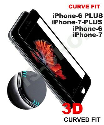 3D Full Screen Cover Tempered Glass Screen Protector Film for iPhone 6 6s 7 Plus